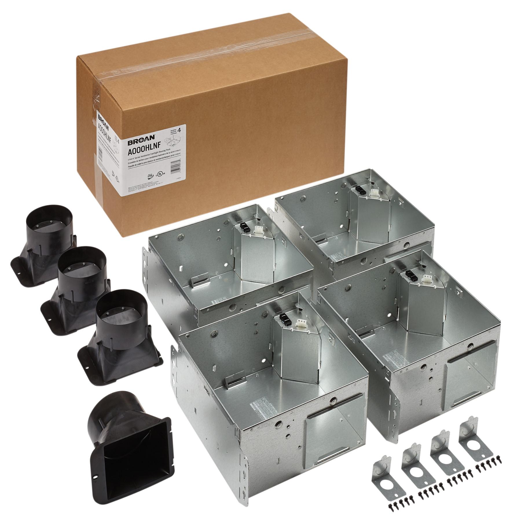 Broan Flex™ Series Ventilation Fan Light Housing Pack without Flange Kit