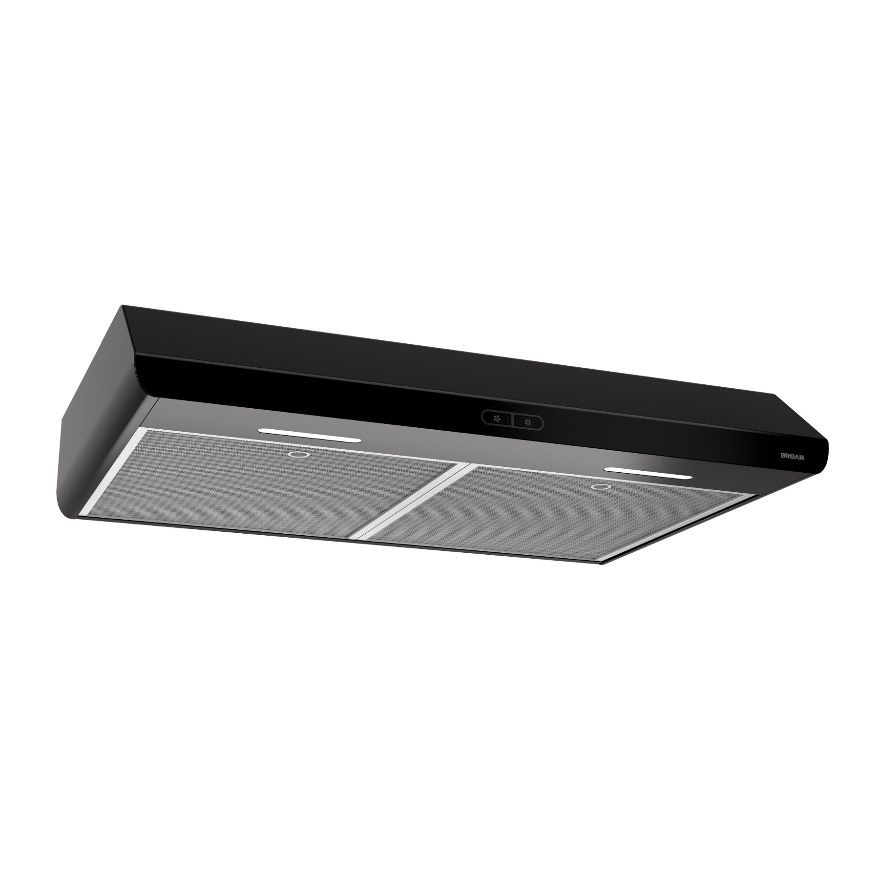 Broan® 30-Inch Convertible Under-Cabinet Range Hood, 250 CFM, Black