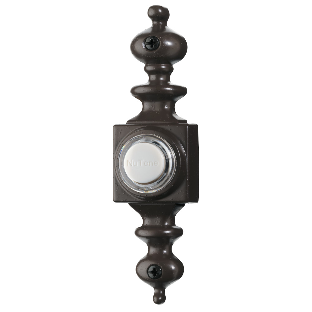Lighted Dimensional Oil-Rubbed Bronze Pushbutton