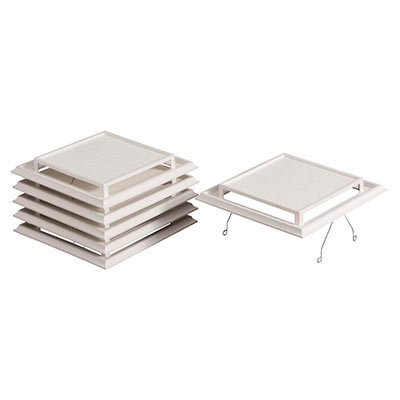 Broan® Grille/Cover, Spring-Mounted, White