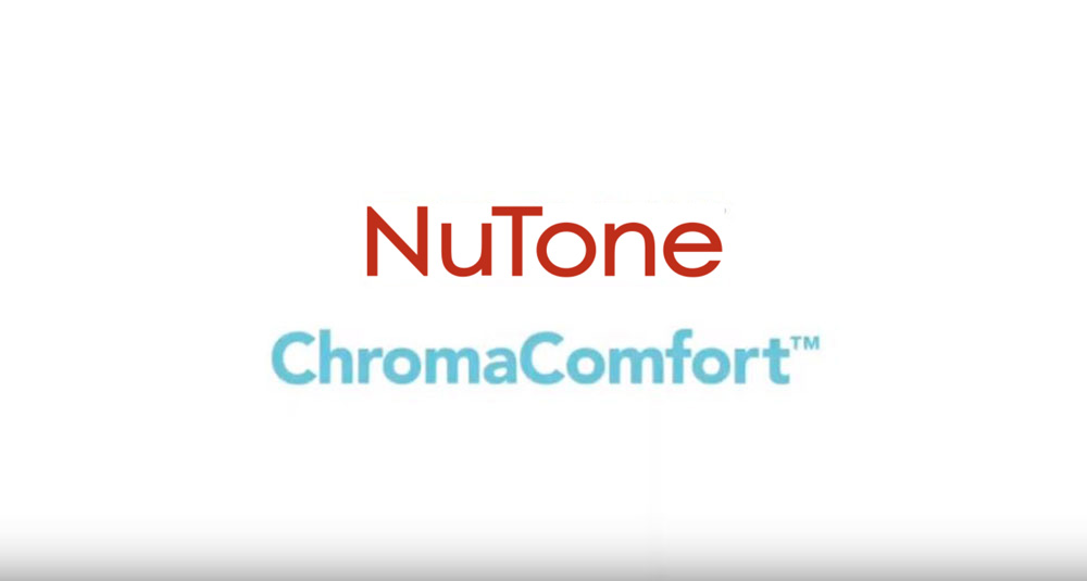 CA NuTone ChromaComfort Ventilation Fan with Multicolour LEDs & Control
