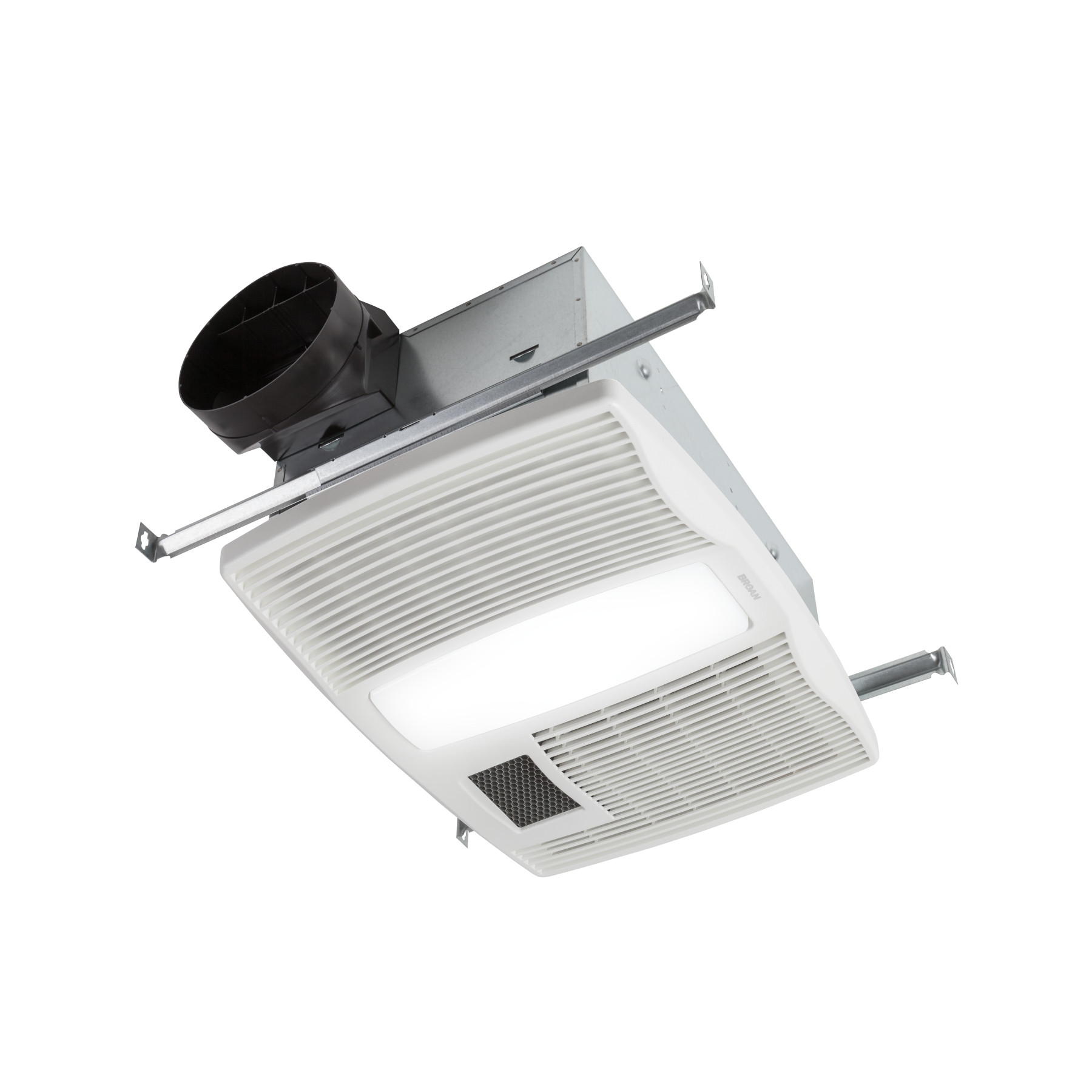 Broan® QT Series 110 CFM Ventilation Fan with Heater and Florescent Light, 0.9 Sones