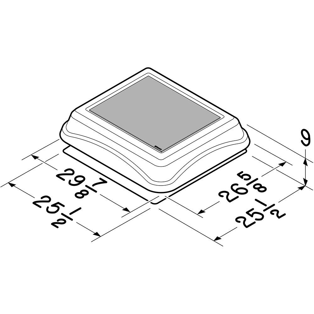 345soww Broan 537 Cfm Solar Powered Attic Ventilator Surface
