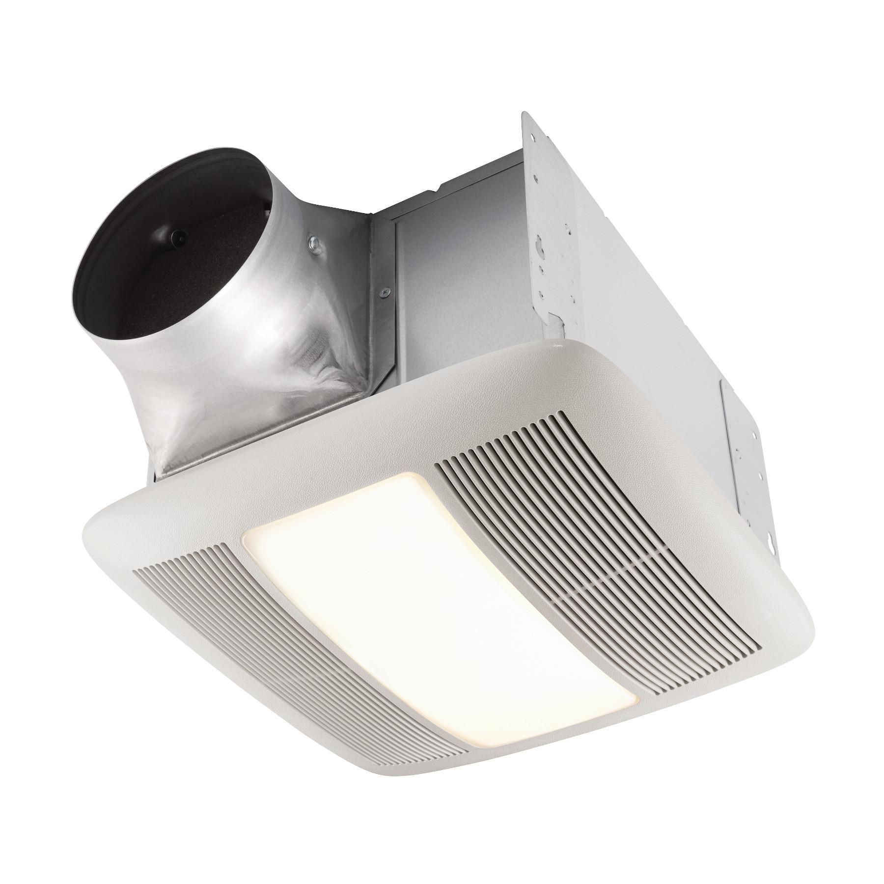 Qt140le Broan 140 Cfm Ventilation Fan Light With Night Lightquiet Bathroom Fan Light Night Light Energy St