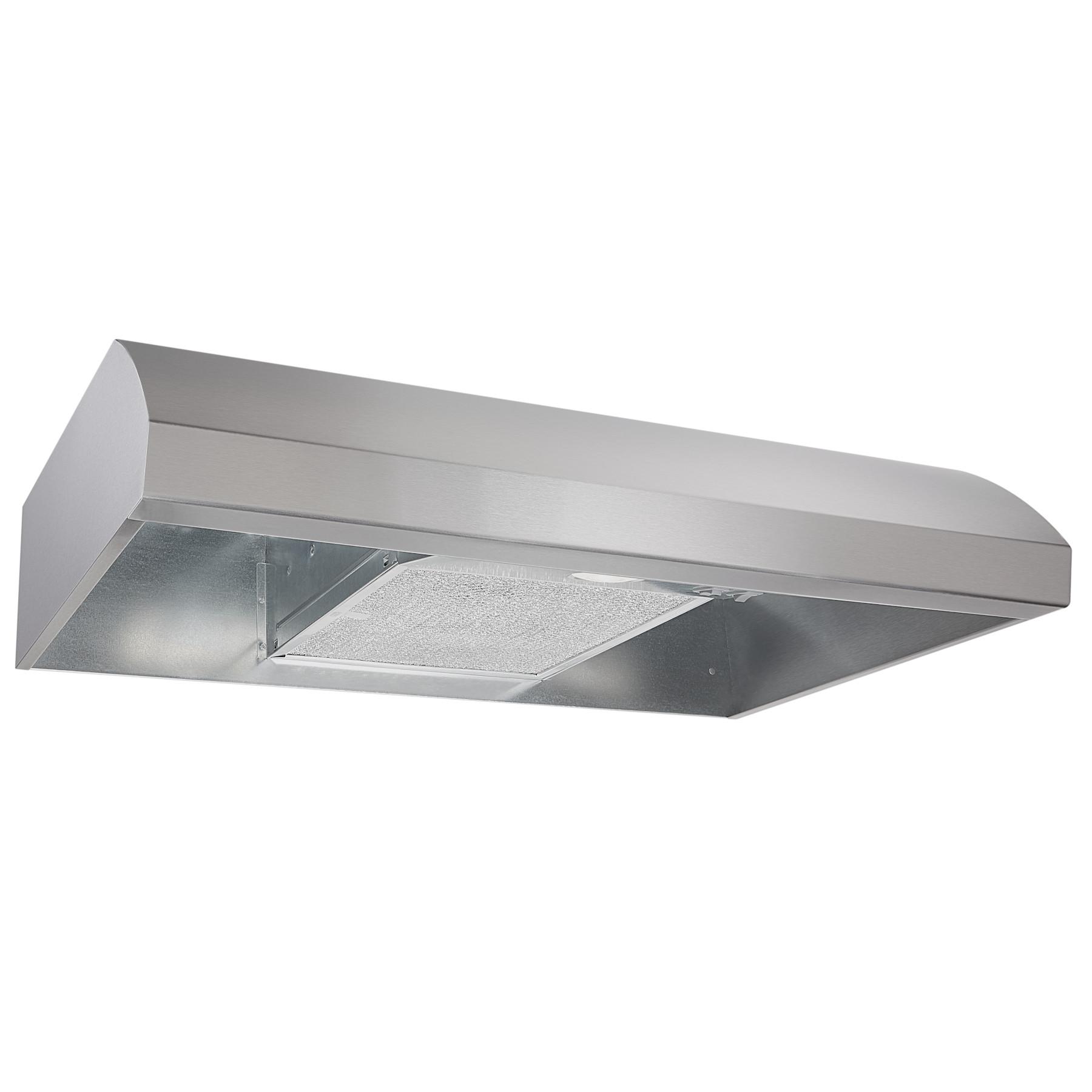 Broan® 30-Inch 4-Way Convertible Under-Cabinet Range Hood, 270 Max CFM, Stainless Steel