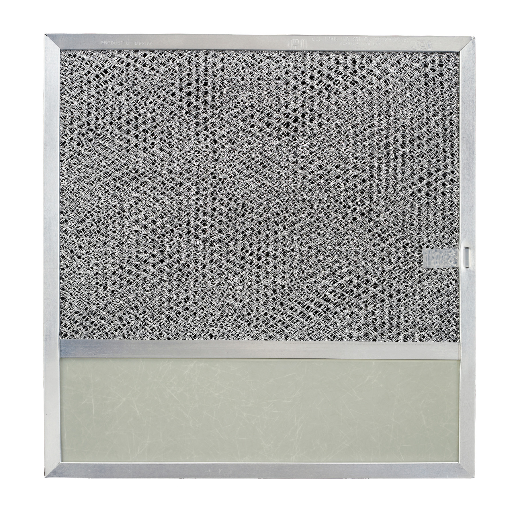 Aluminum Filter with Light Lens, 11-3/8-Inch x 11-3/4-Inch