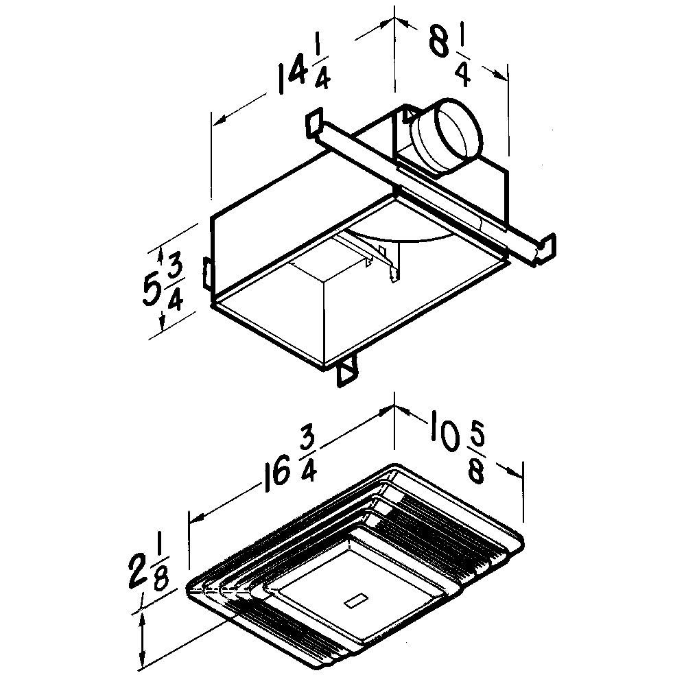 655 Broan® 70 CFM Heater/Ventilation Fan/Light, White