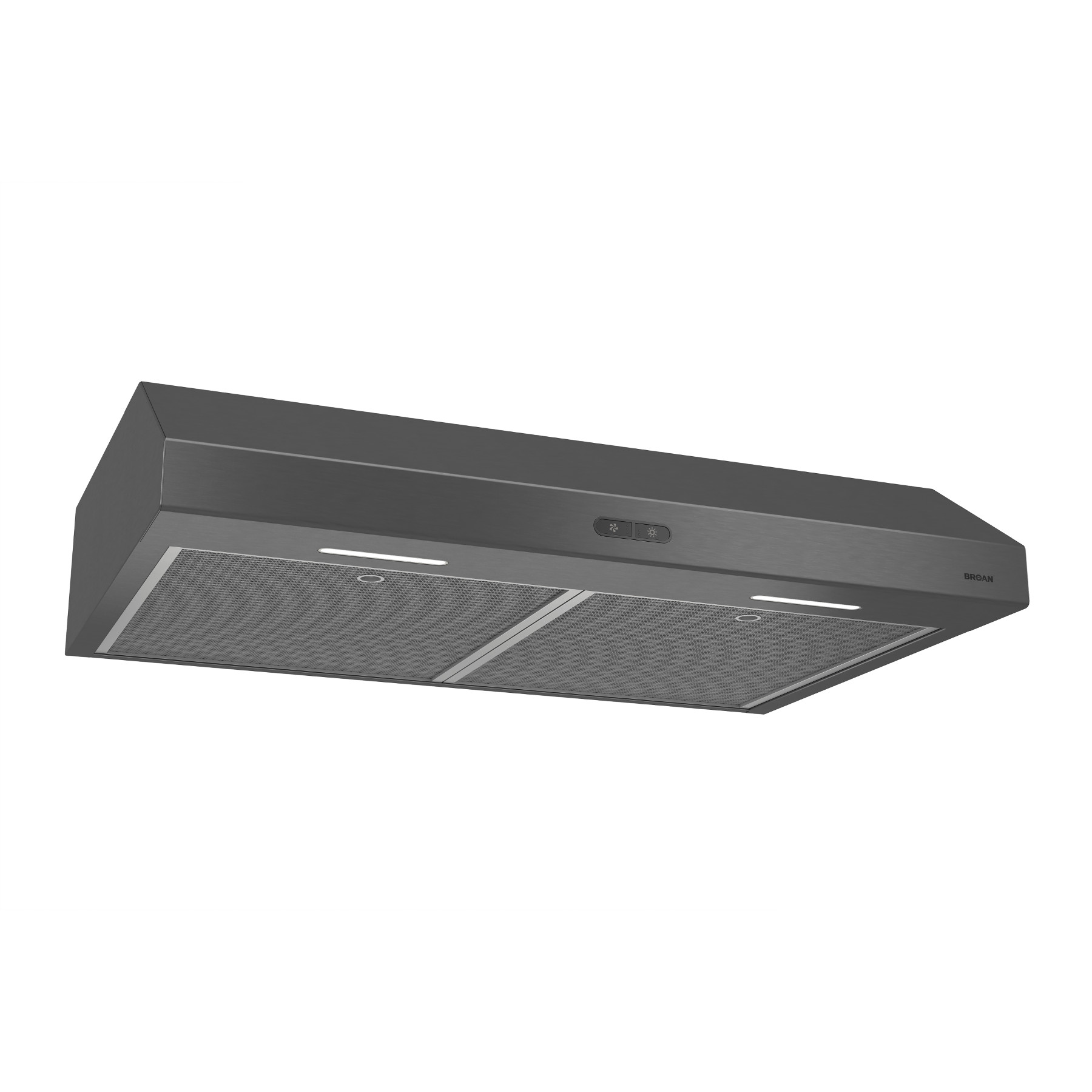 Broan® 30-Inch Convertible Under-Cabinet Range Hood, 300 CFM, Black Stainless Steel