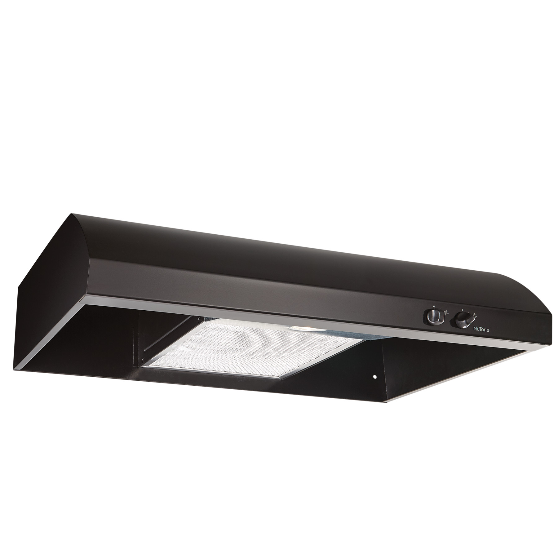 NuTone® 30-Inch 4-Way Convertible Under-Cabinet Range Hood, 220 CFM, Black