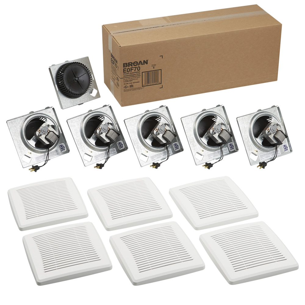 Broan® Economy Series 70 CFM Ceiling/Wall Ventilation Fan Finish Pack, 4.0 sones