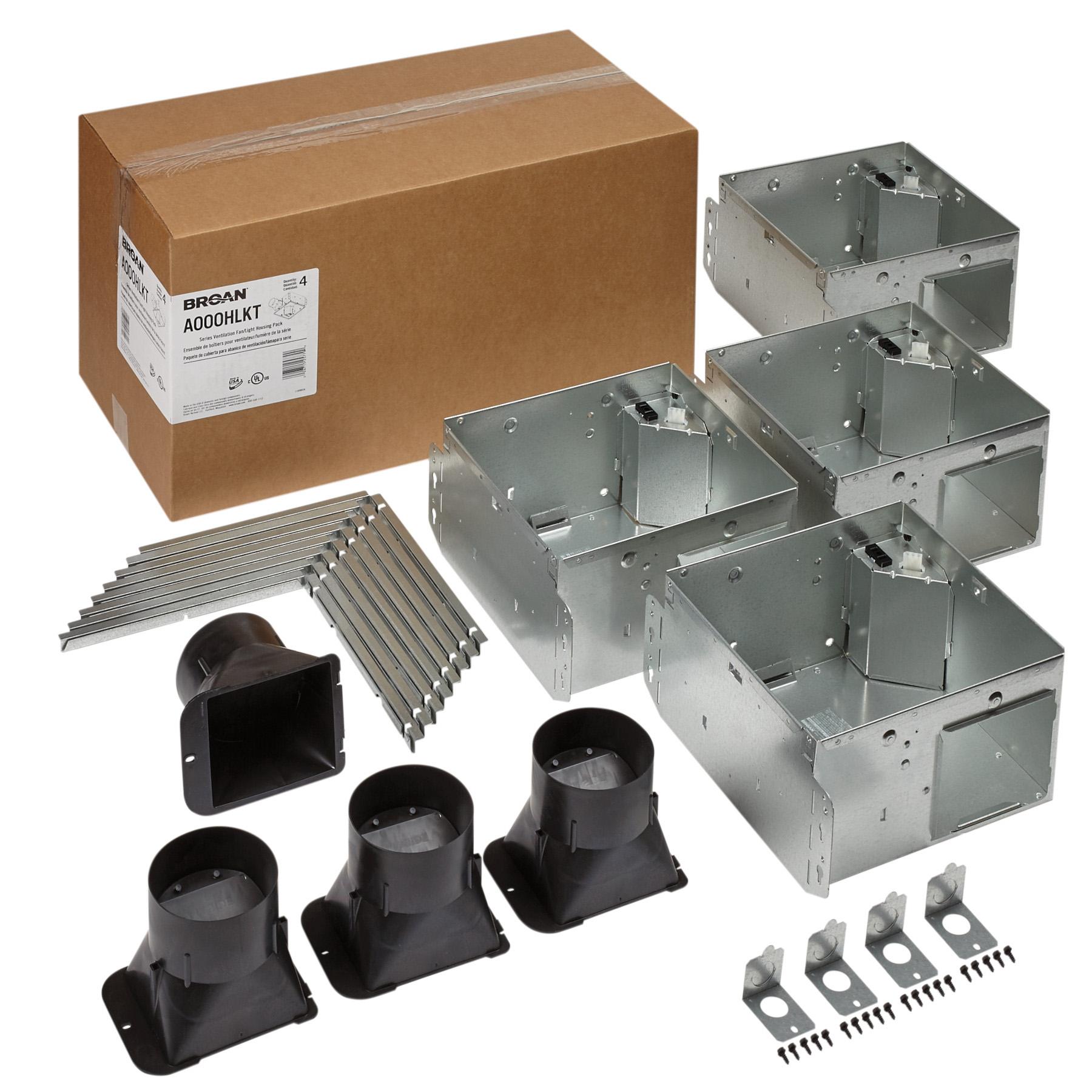 Broan Flex™ Series Ventilation Fan Light Housing Pack with Flange Kit