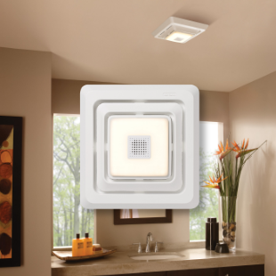 Sensonic™ Bath Fan Grille/Cover With LED Light & Speaker
