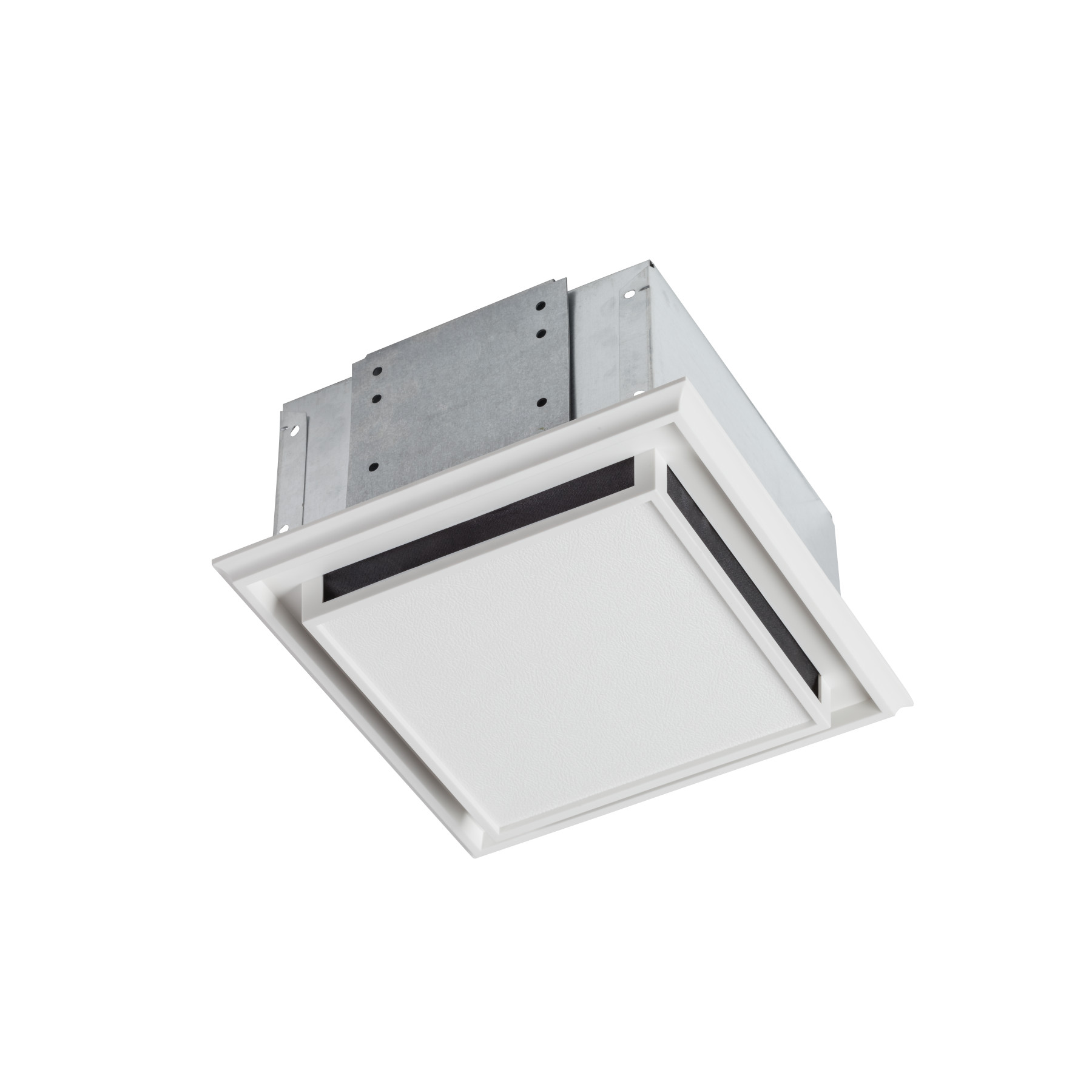 Broan® Duct-free Ventilation Fan with plastic grille, snap-in mounting and charcoal filter