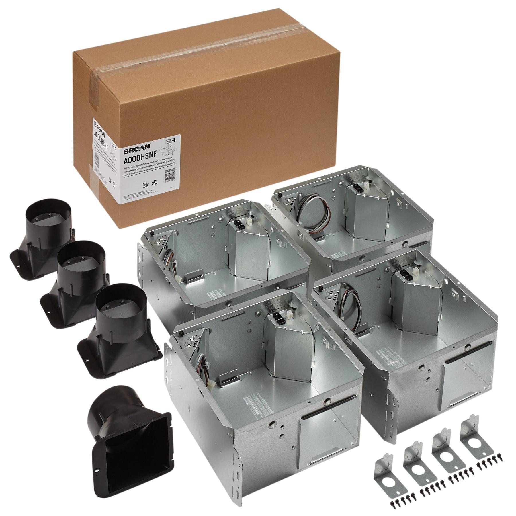 Broan Flex™ Series Humidity Sensing Ventilation Fan Housing Pack without Flange Kit