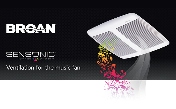 Broan® Sensonic™ Exhaust Vent Fan w/ Bluetooth® Speaker