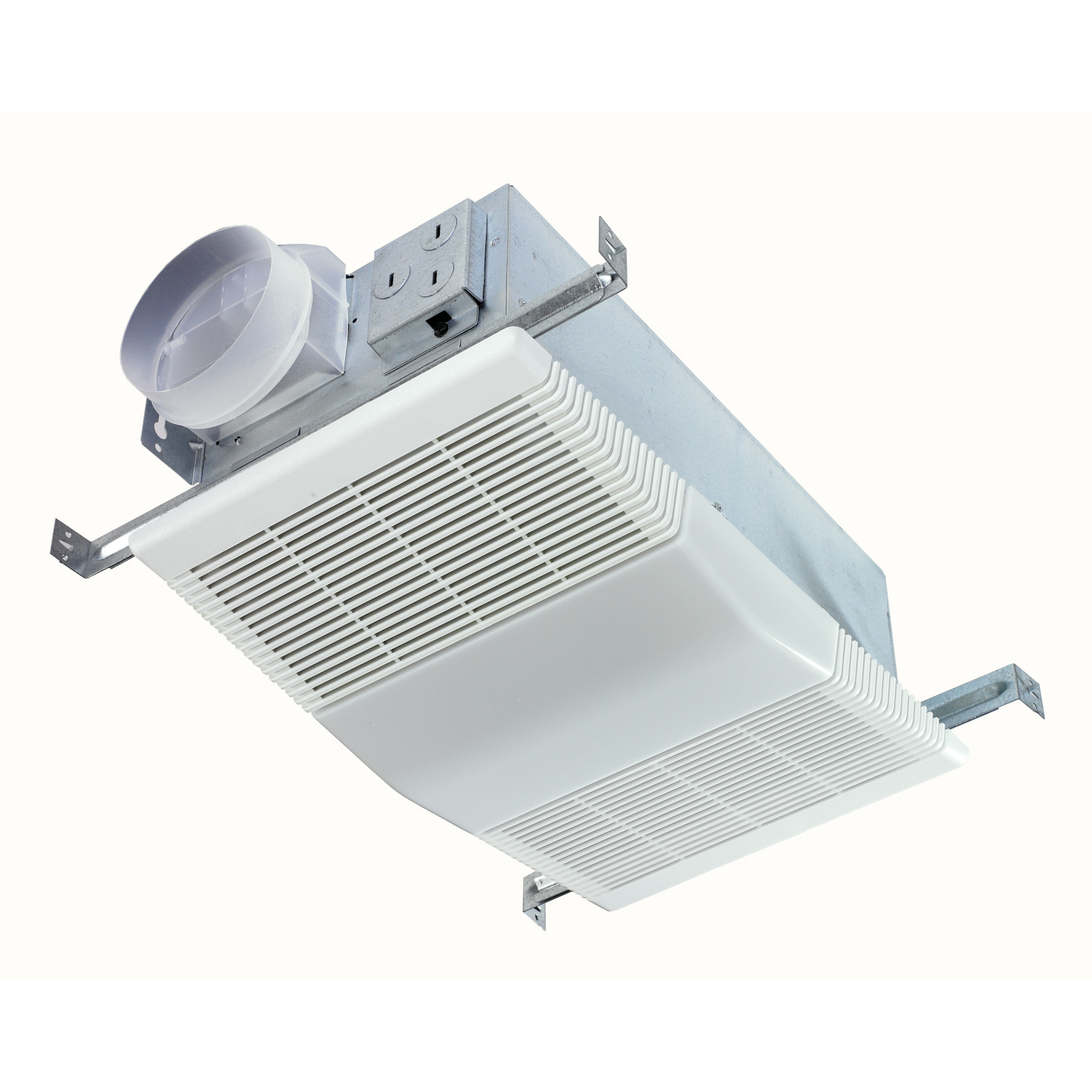 NuTone® 70 CFM Ventilation Fan with Light, White Polymeric Lens and Grille, 4.0 Sones
