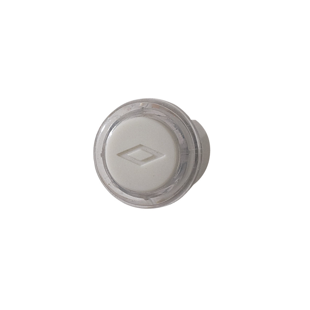 Lighted Round Clear/White Pushbutton