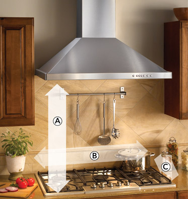 How is a range hood's power measured?
