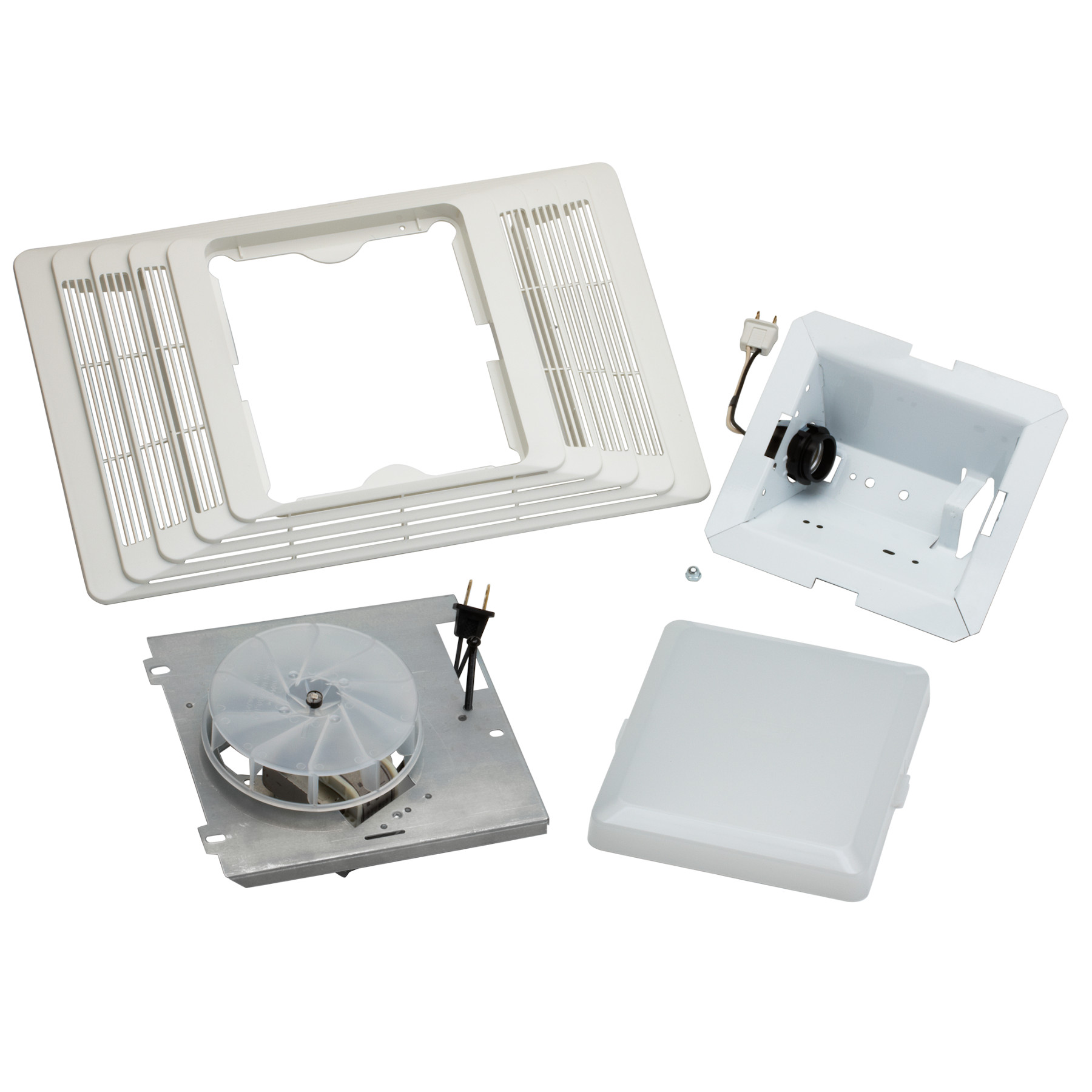 Broan® 70 CFM Ventilation Fan/Light Assembly & Grille Finish Pack, 4.0 Sones, 100W Light.