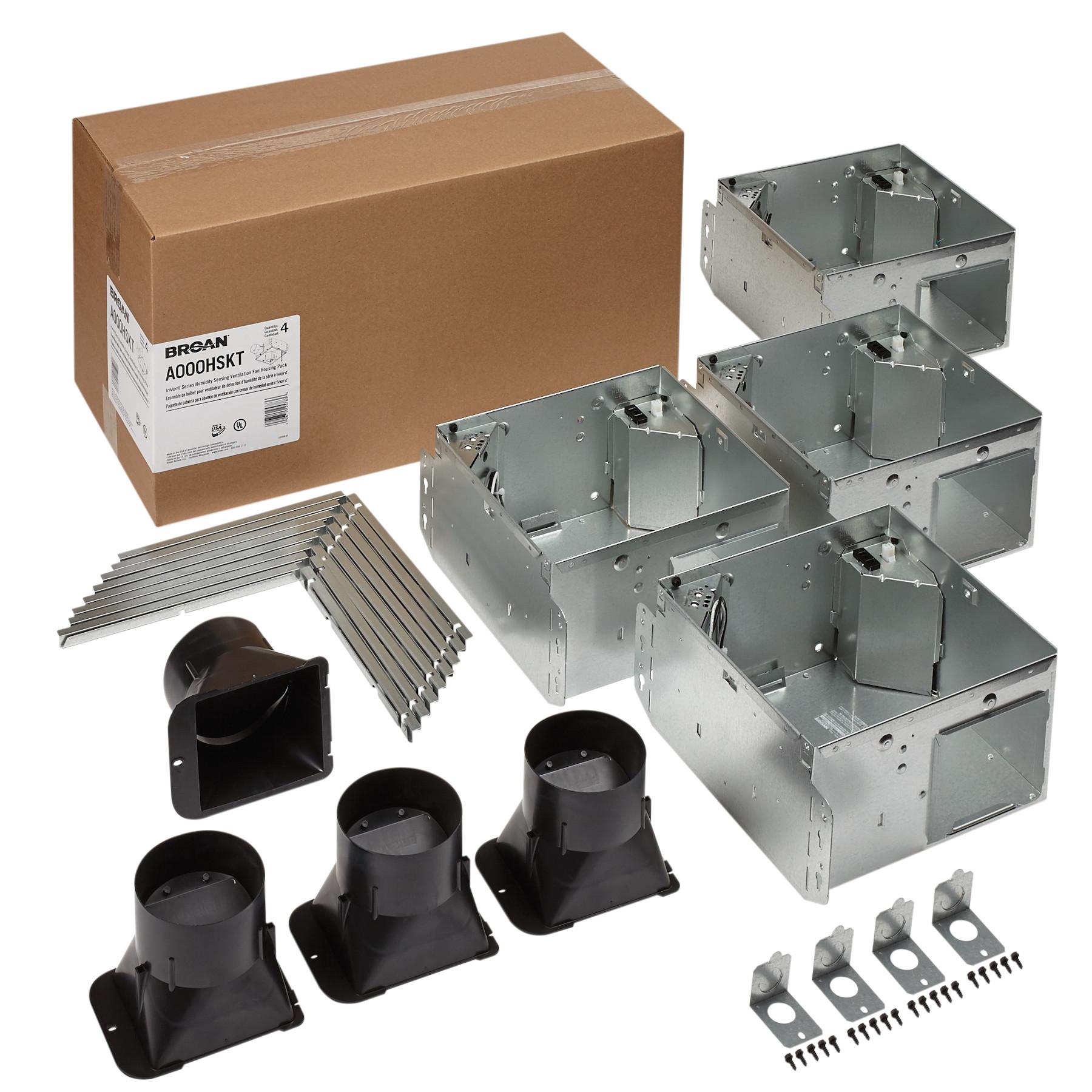 Broan Flex™ Series Humidity Sensing Ventilation Fan Housing Pack with Flange Kit