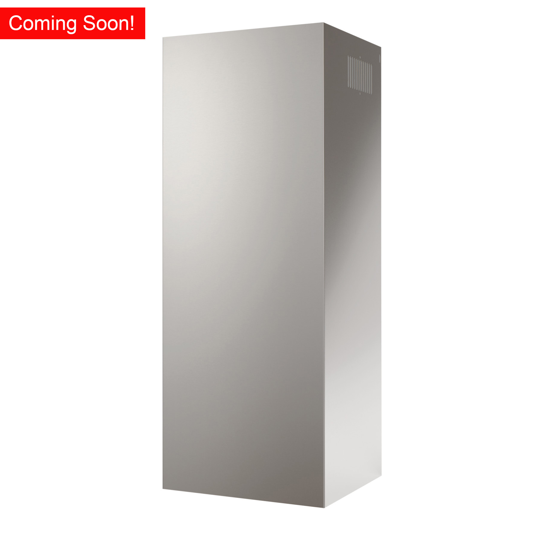 Optional ducted/non-ducted flue extension in black stainless for Broan BWS series range hoods