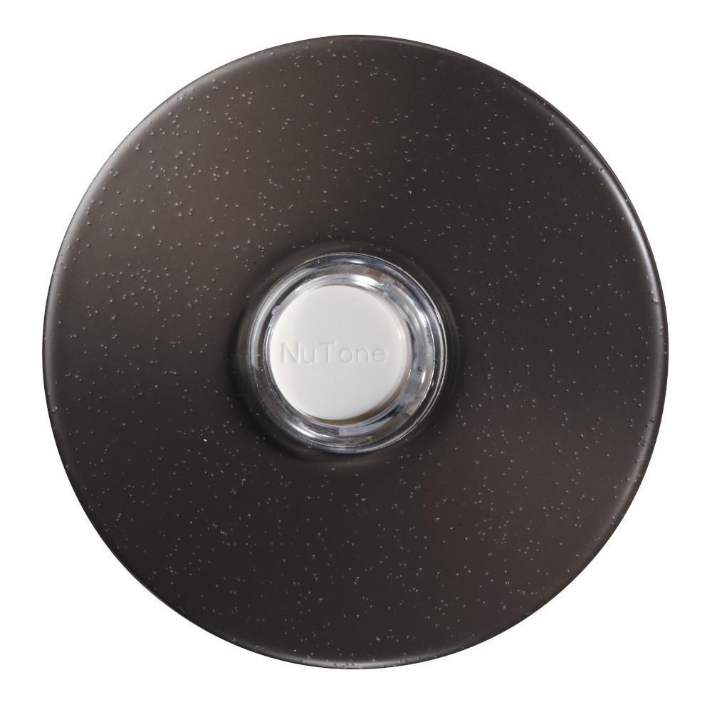 Lighted Round Oil-Rubbed Bronze Stucco Pushbutton