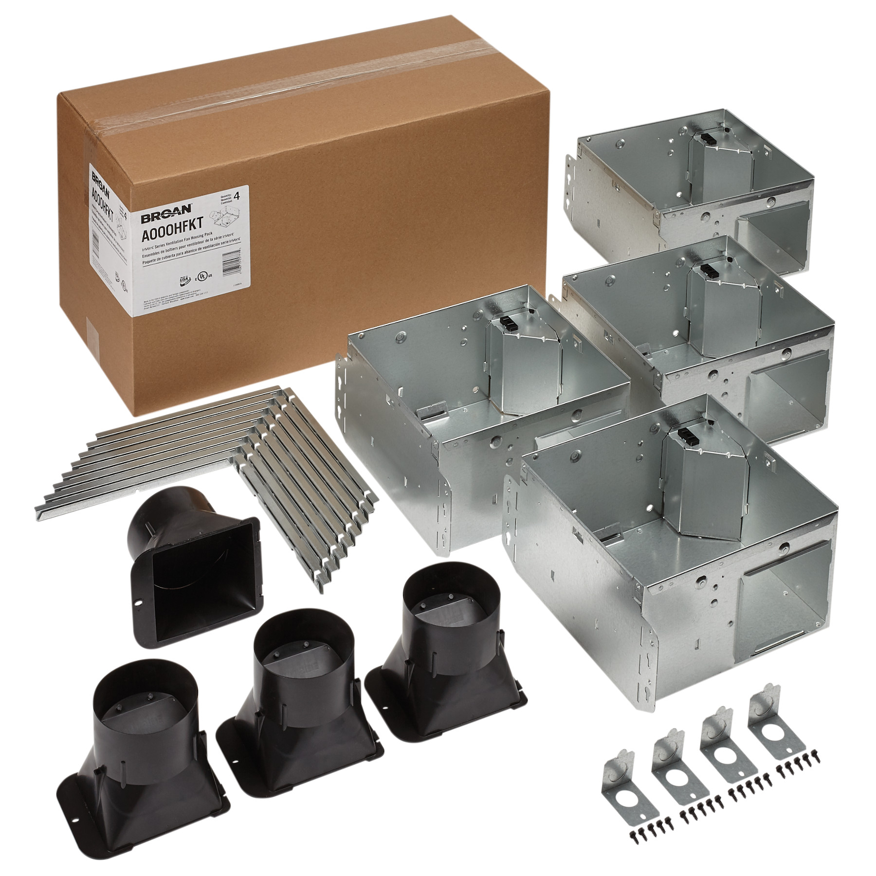 Broan Flex™ Series Ventilation Fan Housing Pack with Flange Kit