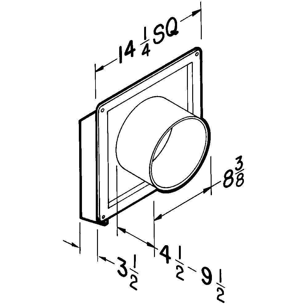 Broan® 8-Inch Through Wall Exhaust Vent Fan, 200 CFM