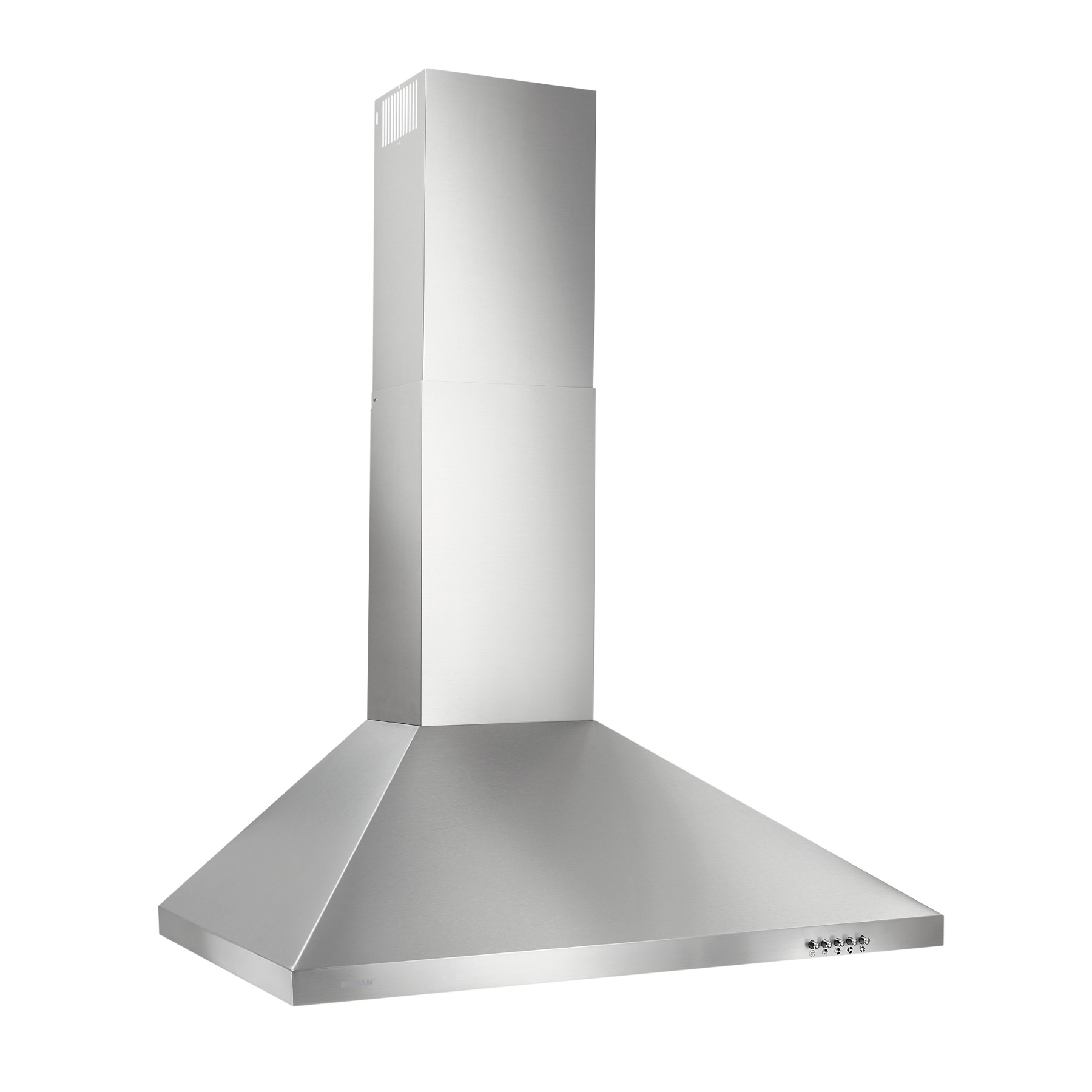 Broan® 30-Inch Convertible European Style Wall-Mounted Chimney Range Hood, 390 MAX Blower CFM, Stainless Steel LED Light