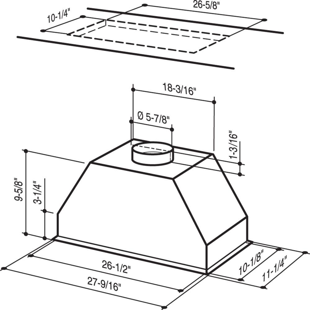 [DIAGRAM_5UK]  RMP17004 Broan® Custom Insert Power Pack Range Hood, 400 CFM   Broan Qp3 Wiring Diagram      Broan-NuTone