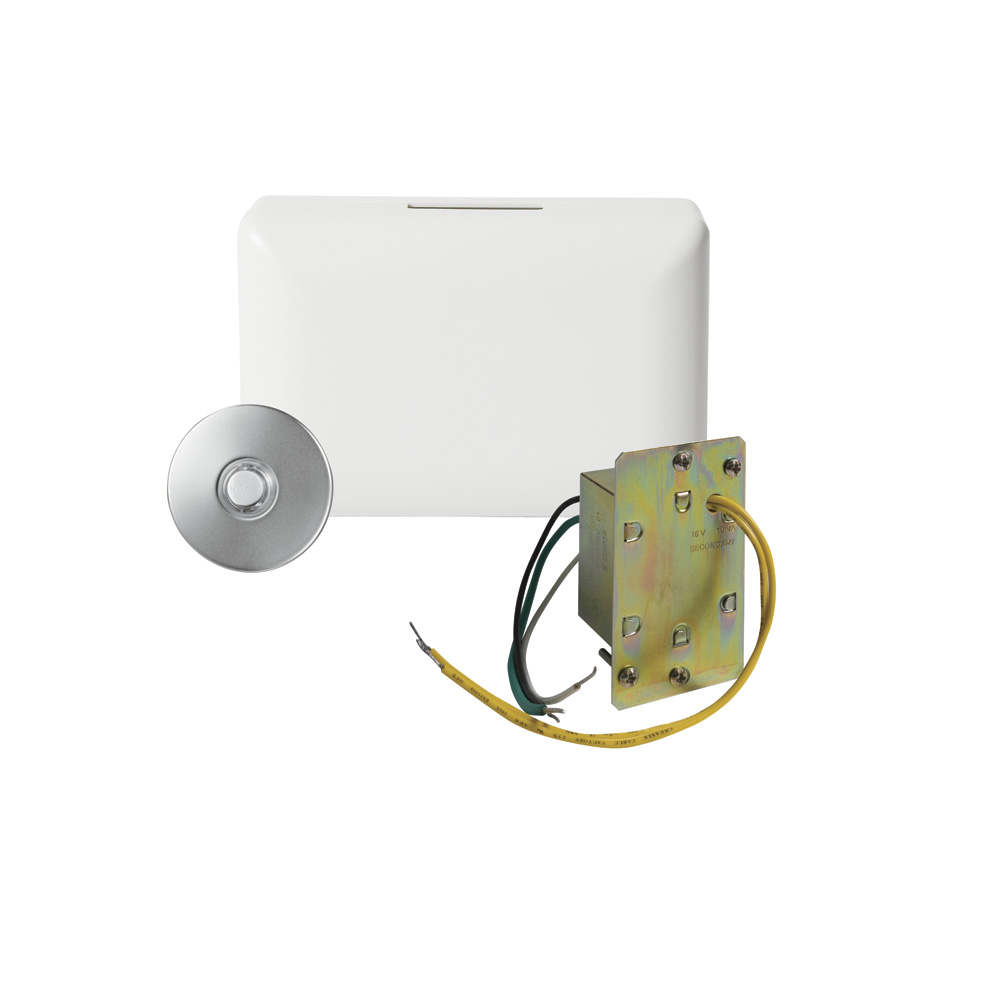 Builder Kit Doorbell with Lighted Satin Nickel Pushbutton