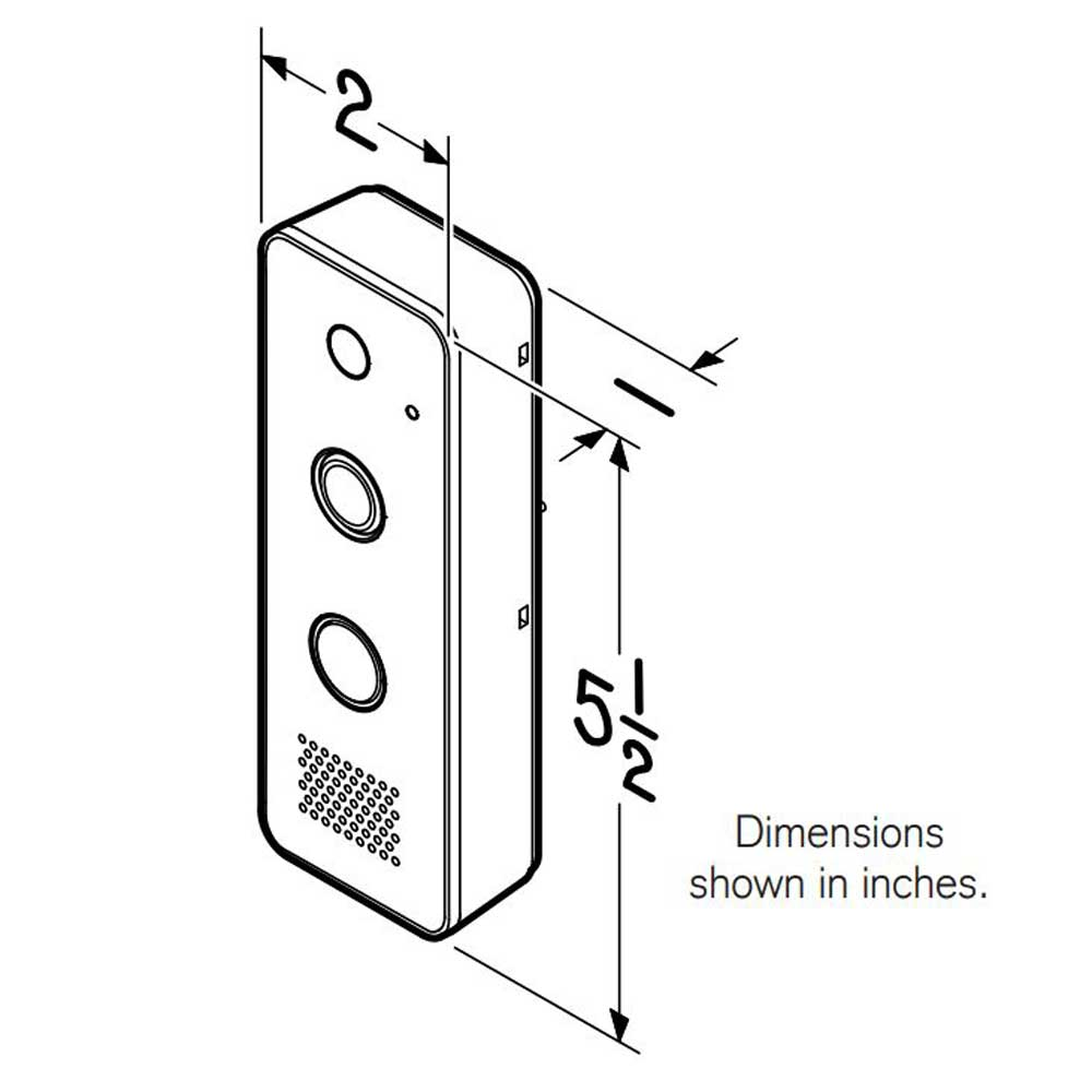 Knock Video Doorbell dimensions