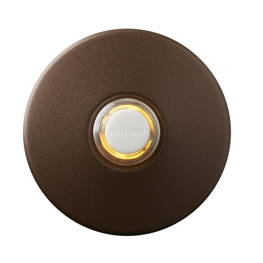 "2-1/2"" Oil-Rubbed Bronze LED Lighted Round Doorbell Pushbutton"