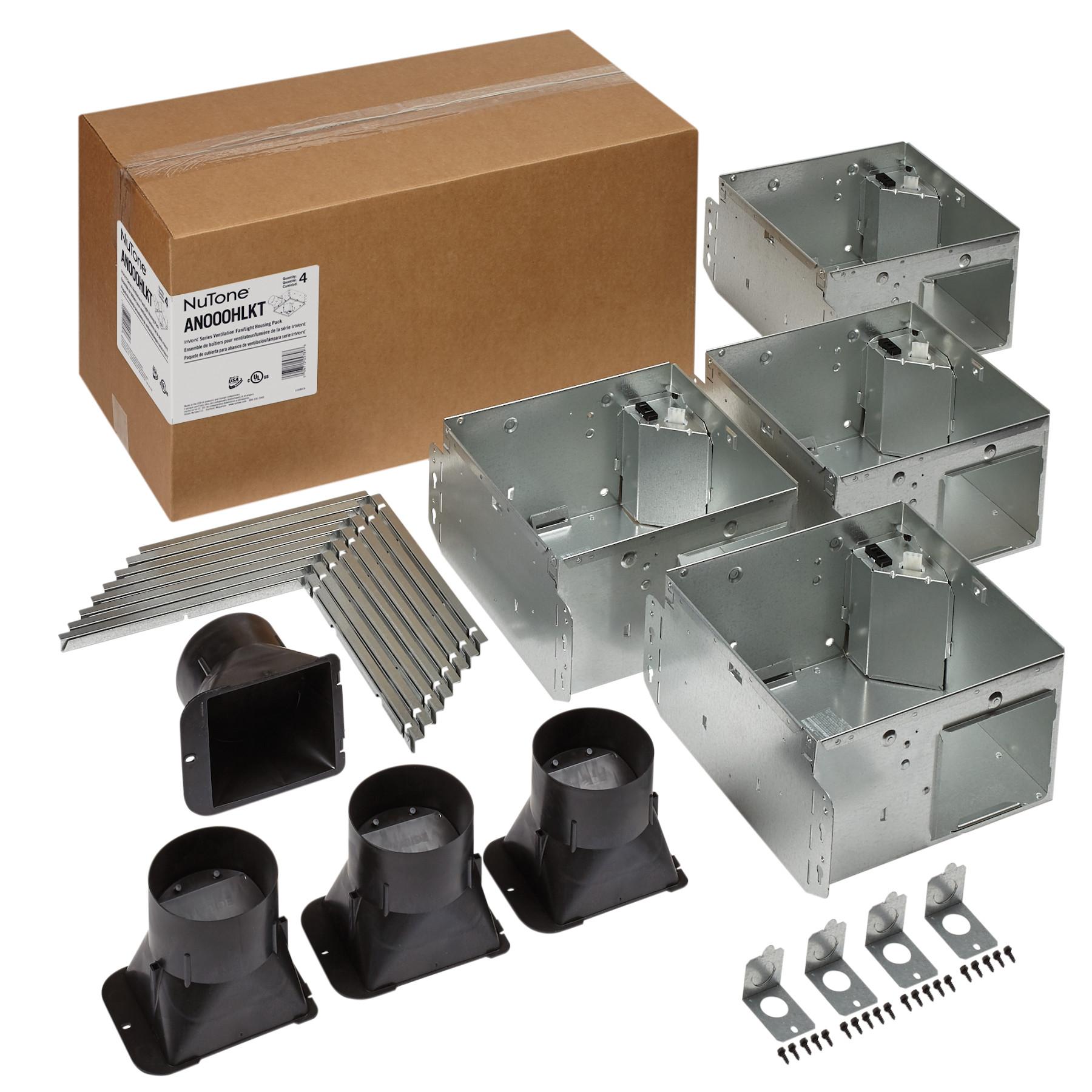 NuTone® Flex Series Ventilation Fan Light Housing Pack with Flange Kit
