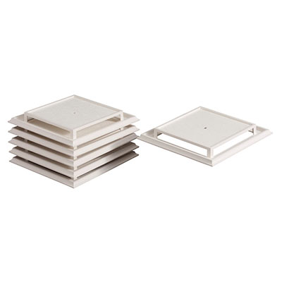 Broan® Grille/Cover, Center Screw-Mounted, White