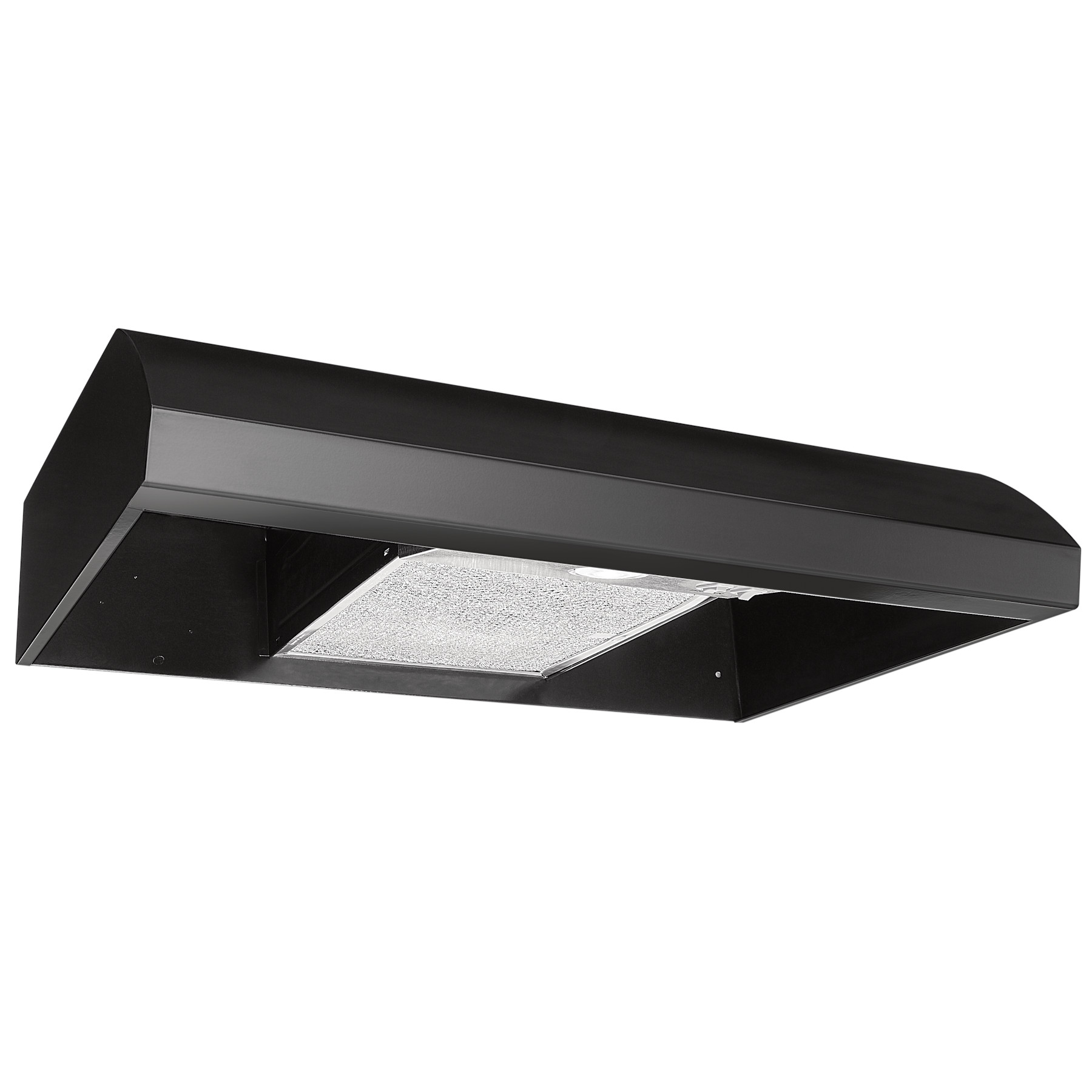Broan® 30-Inch 4-Way Convertible Under-Cabinet Range Hood, 270 Max CFM, Black