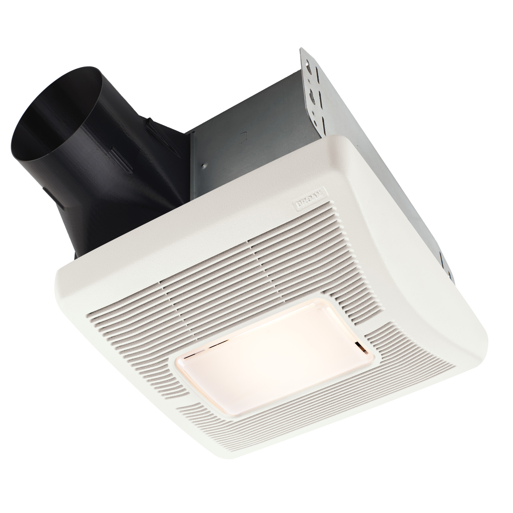 Broan Flex™ Series 50 CFM Single Speed Ceiling Room Side Installation Bathroom Exhaust Fan with Light
