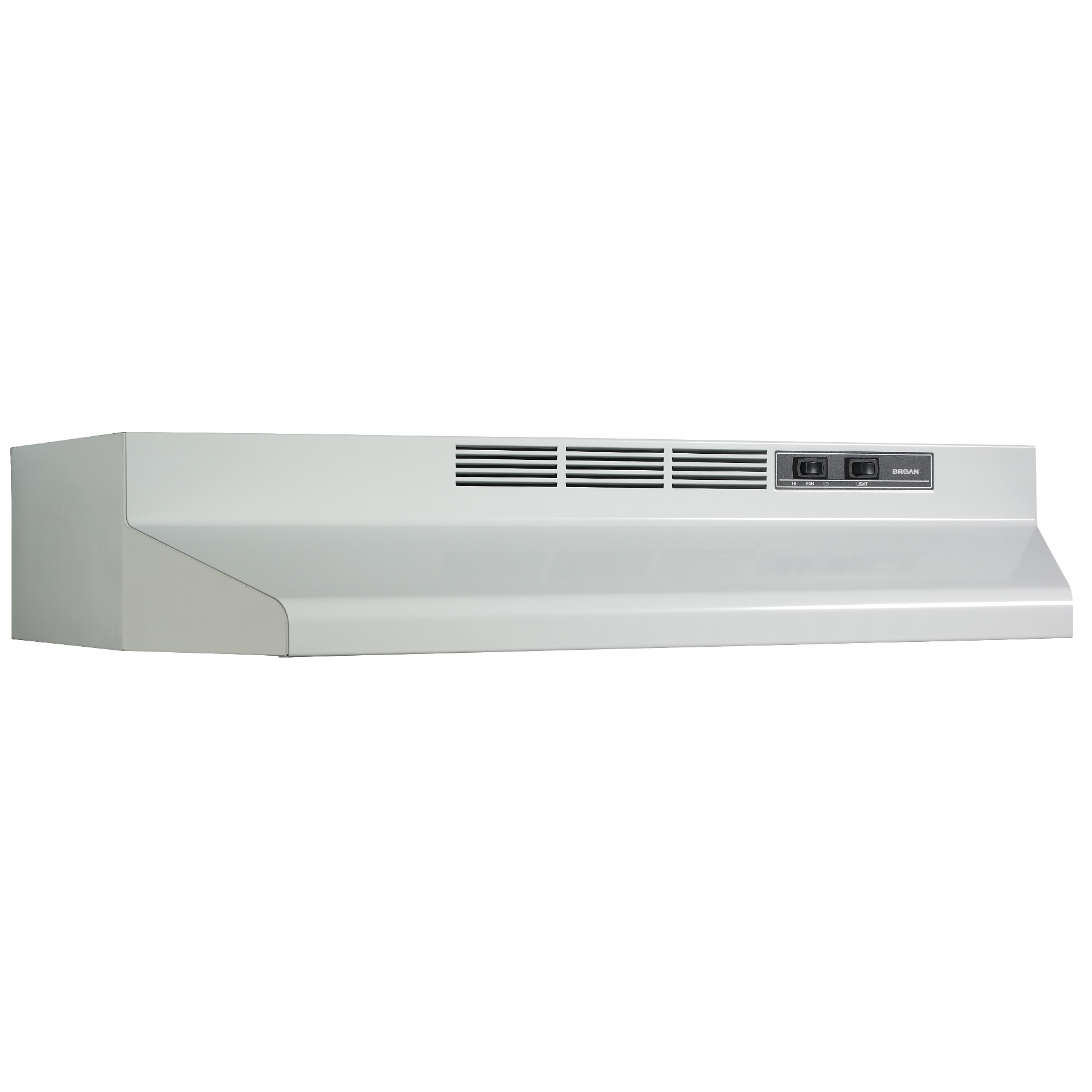 Broan® 30-Inch Convertible Under-Cabinet Range Hood, 160 CFM, White