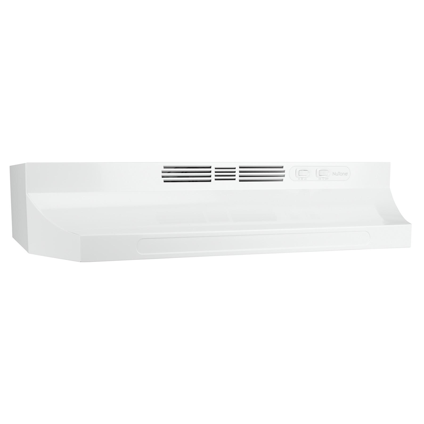 Rl6230wh Nutone 30 Ductless Under Cabinet Range Hood W Light White