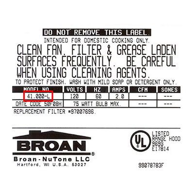 Broan Standard Under-Cabinet Range Hood