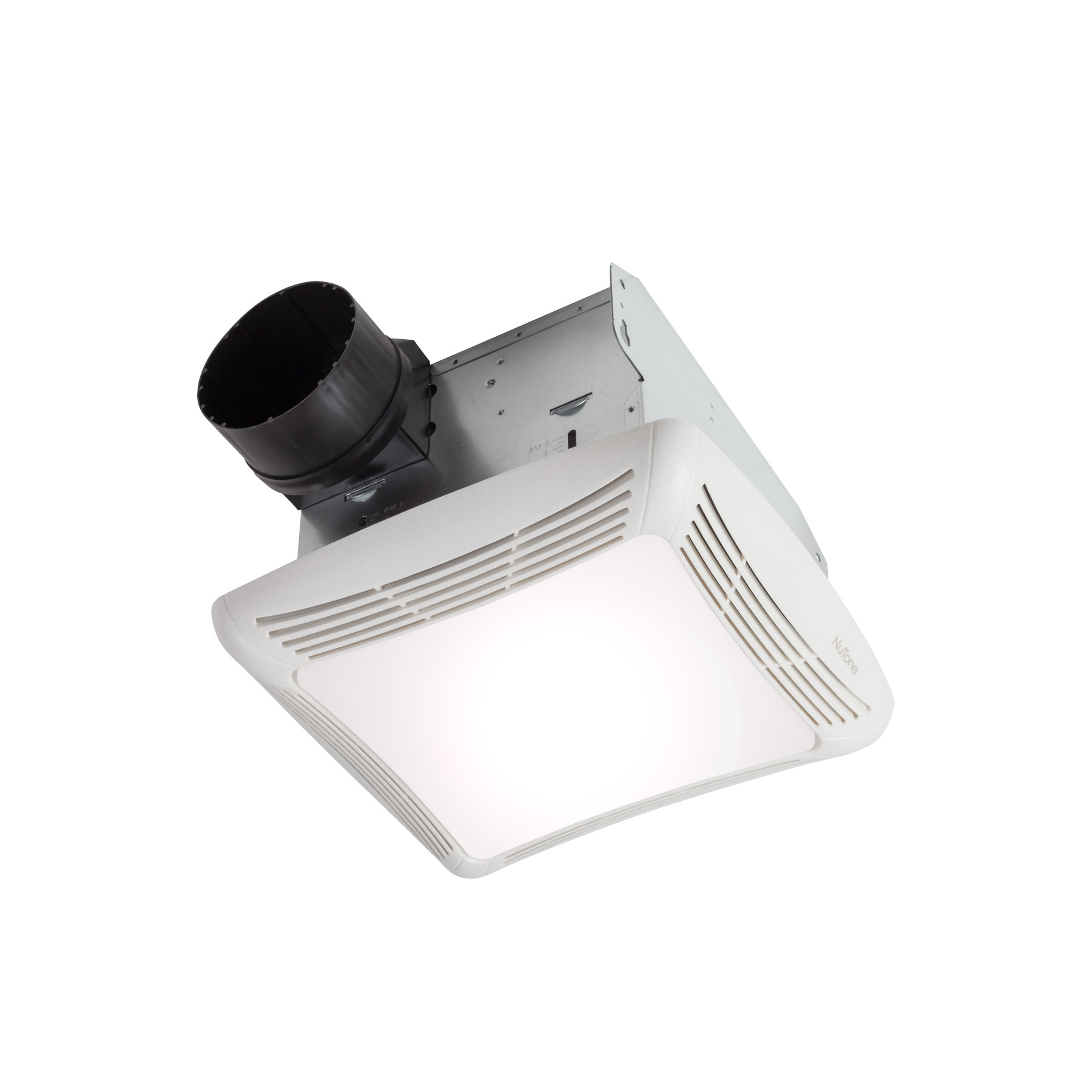 Broan InVent Series Single-Speed Fan with LED Light ENERGY STAR Certified Ceiling Room-Side Installation Bathroom Exhaust Fan 110 CFM 1.5 Sones