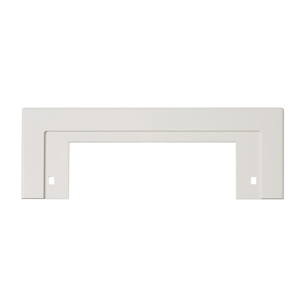 Trim Plate for CanSweep® Automatic Inlet for Central Vacs, 10-9/16 x 4h (adjustable), in White