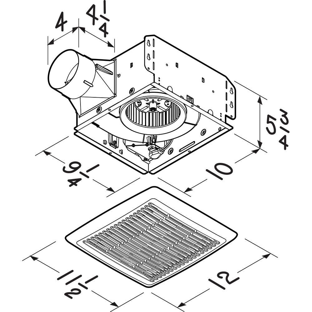 AE50 Broan Flex™ Series 50 CFM 0.5 Sones Ventilation Fan