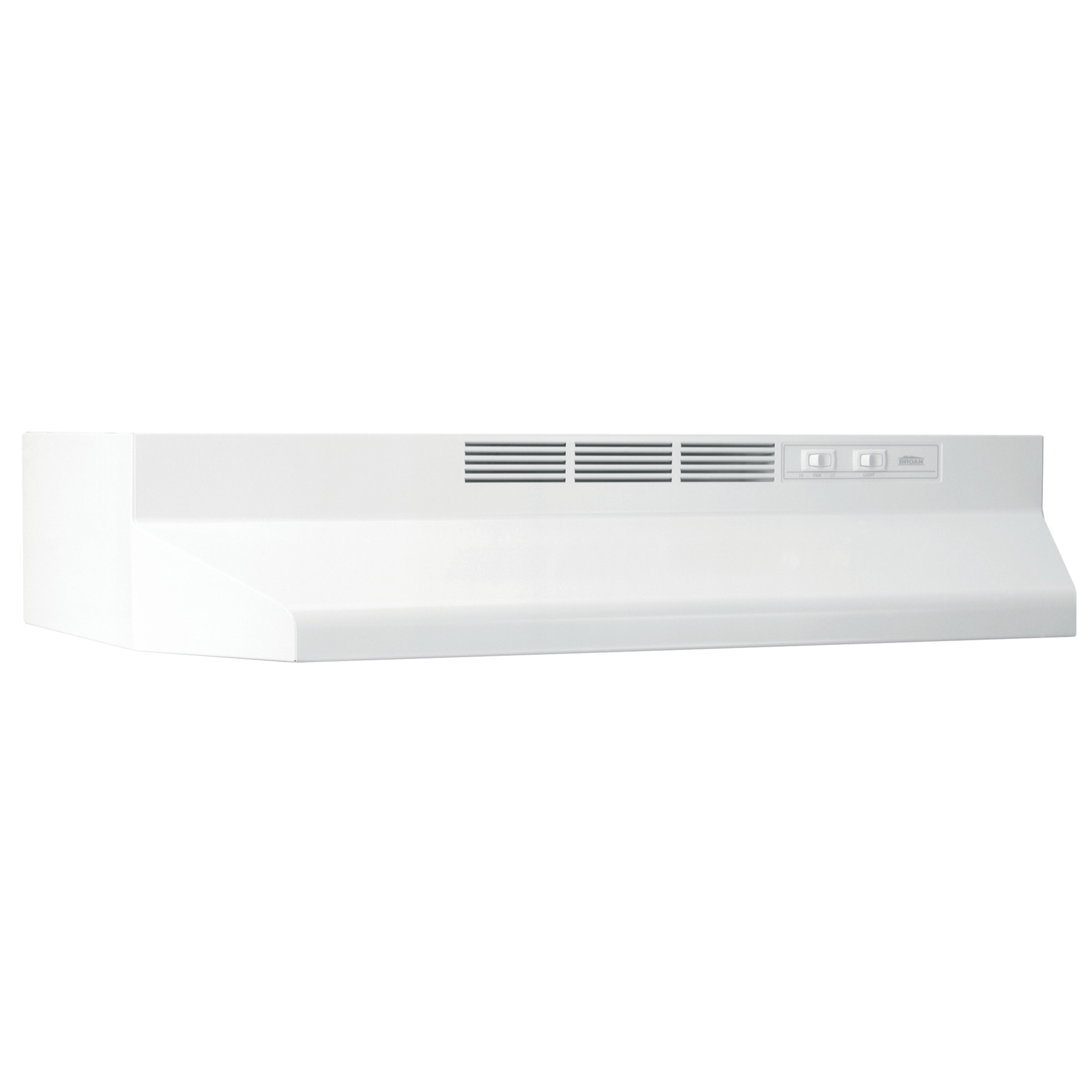 White 4.5 Sones Exhaust Fan for Under Cabinet 300 CFM 30 Slide Out Range Hood Inch Broan-NuTone Broan 153001 Silhouette Insert with Light