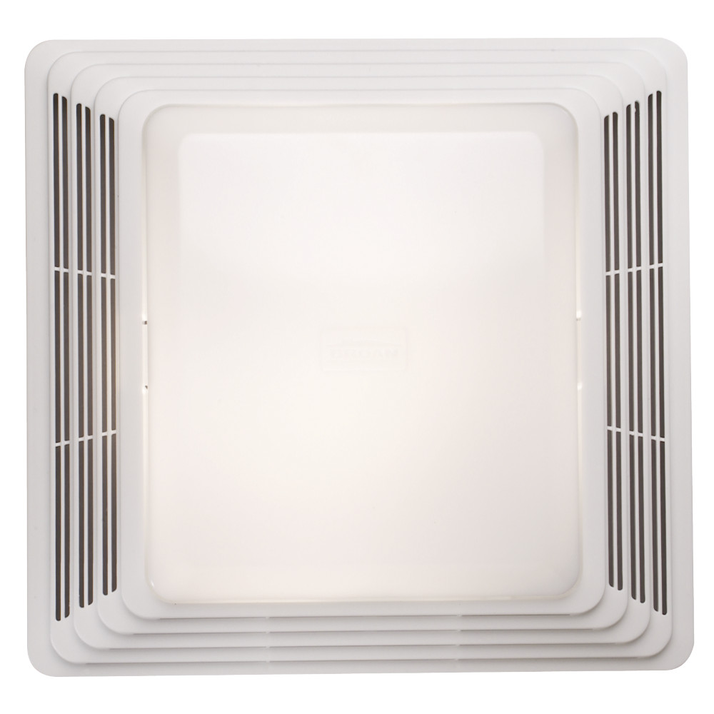 Broan® Bathroom Exhaust Fan Grille/Cover w/ 100w Light