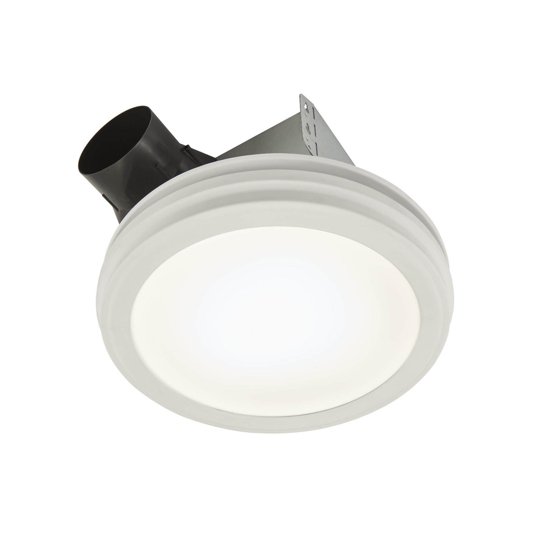 Quiet Round Bath Fan Bathroom Shower Exhaust Ventilation Vent Fan with Light New