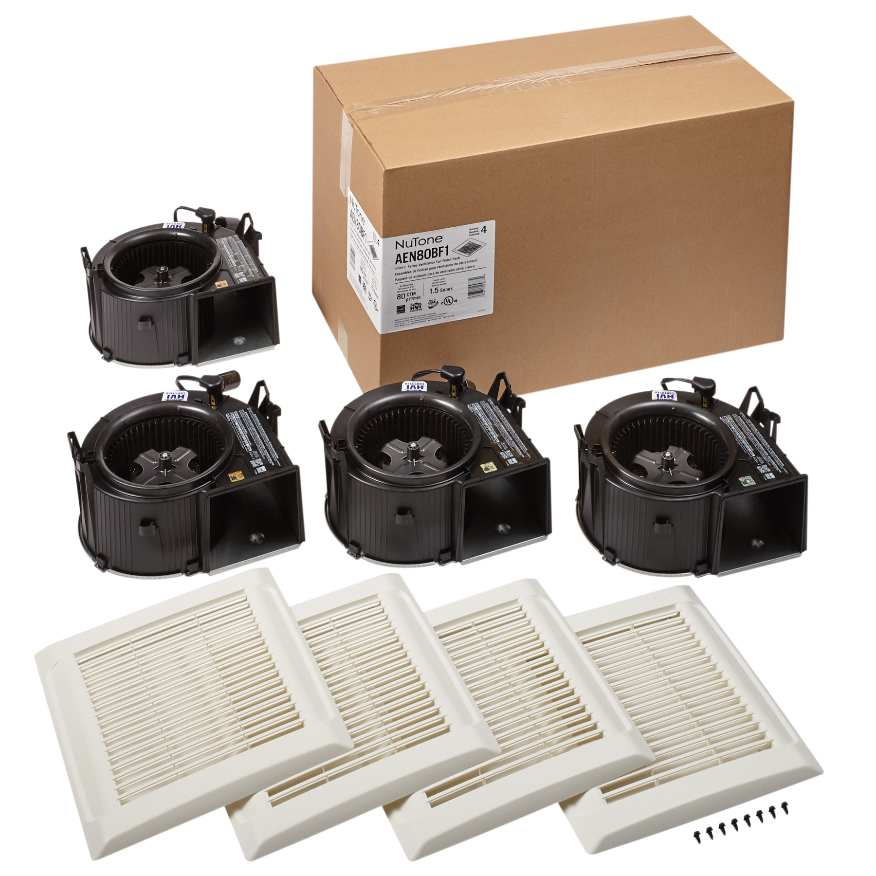 NuTone® Flex Series 80 CFM 1.2 Sones Ventilation Fan Finish Pack Energy Star®