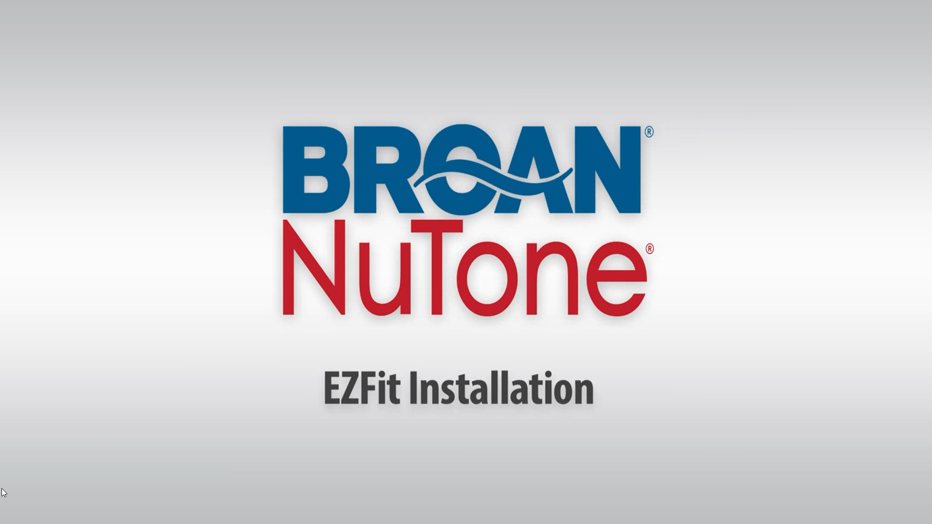 Broan EZ Fit Installation - Ventilation Fans
