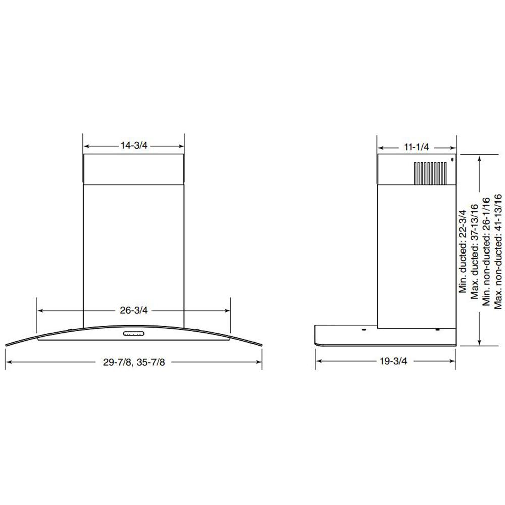 EW4630SS Dimensional Drawing