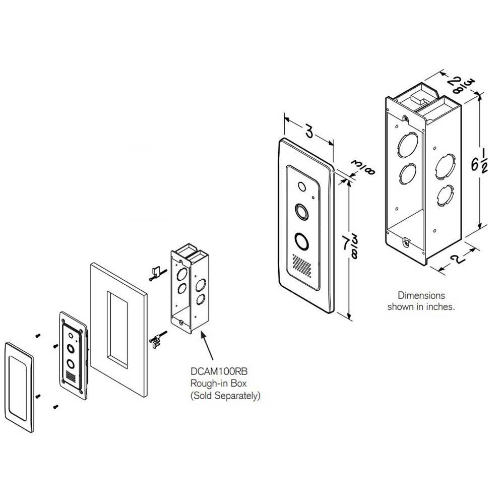 Knock Video Doorbell flush mount dimensions